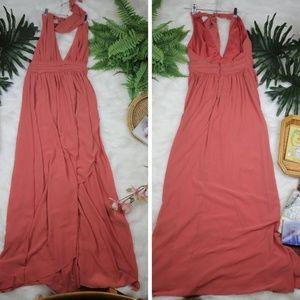 Lulus Formal Halter Floor Length Formal Maxi Dress